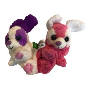 Wild Republic two in one dog pup plush pink/purple